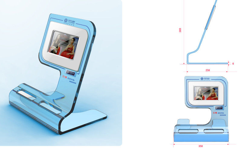 High Resolution Desktop Advertising POS LCD Display Supports Video Loop Play